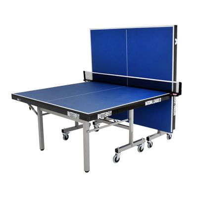 Butterfly National League 22 Rollaway Indoor Table Tennis Table-Blue-Playback
