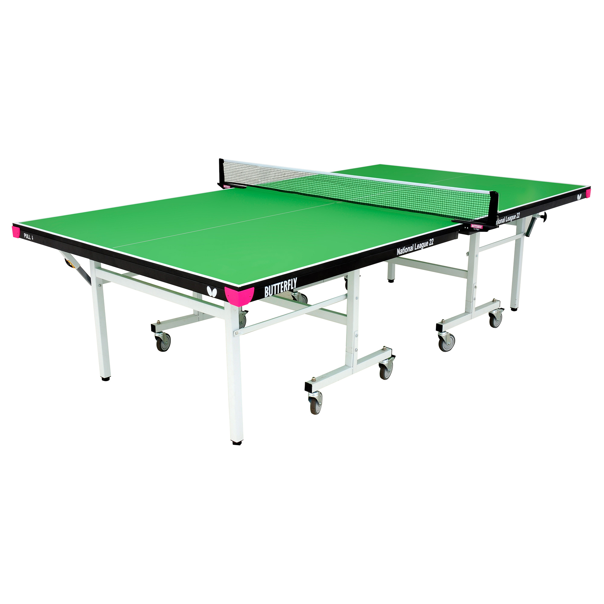 Butterfly National League 22 Rollaway Indoor Table Tennis Table  Green