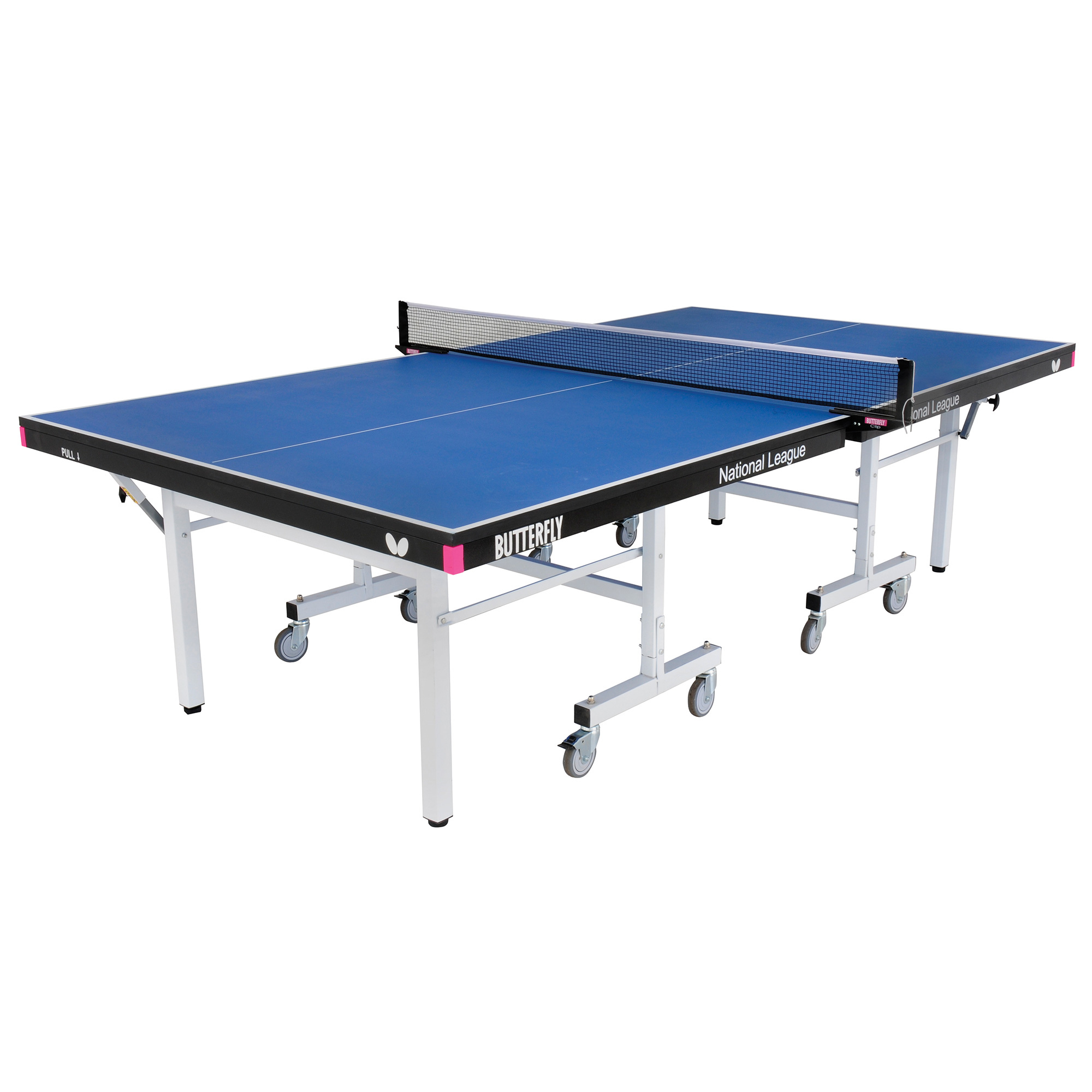 Butterfly National League 25 Rollaway Indoor Table Tennis Table  Blue