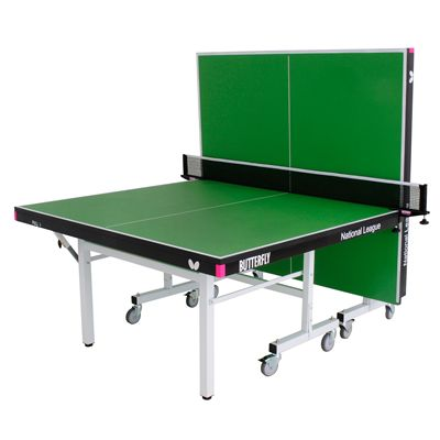 Butterfly National League 25 Rollaway Indoor Table Tennis Table-Green-Playback