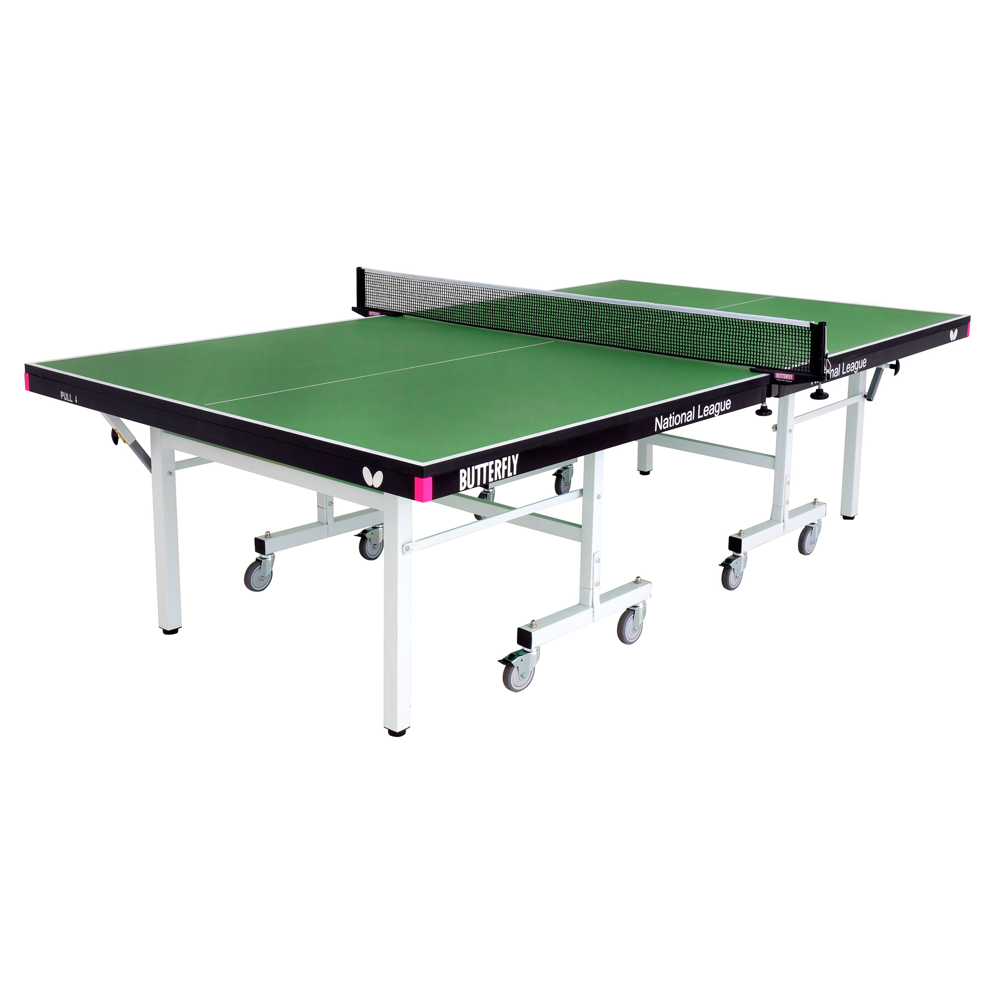 Butterfly National League 25 Rollaway Indoor Table Tennis Table  Green
