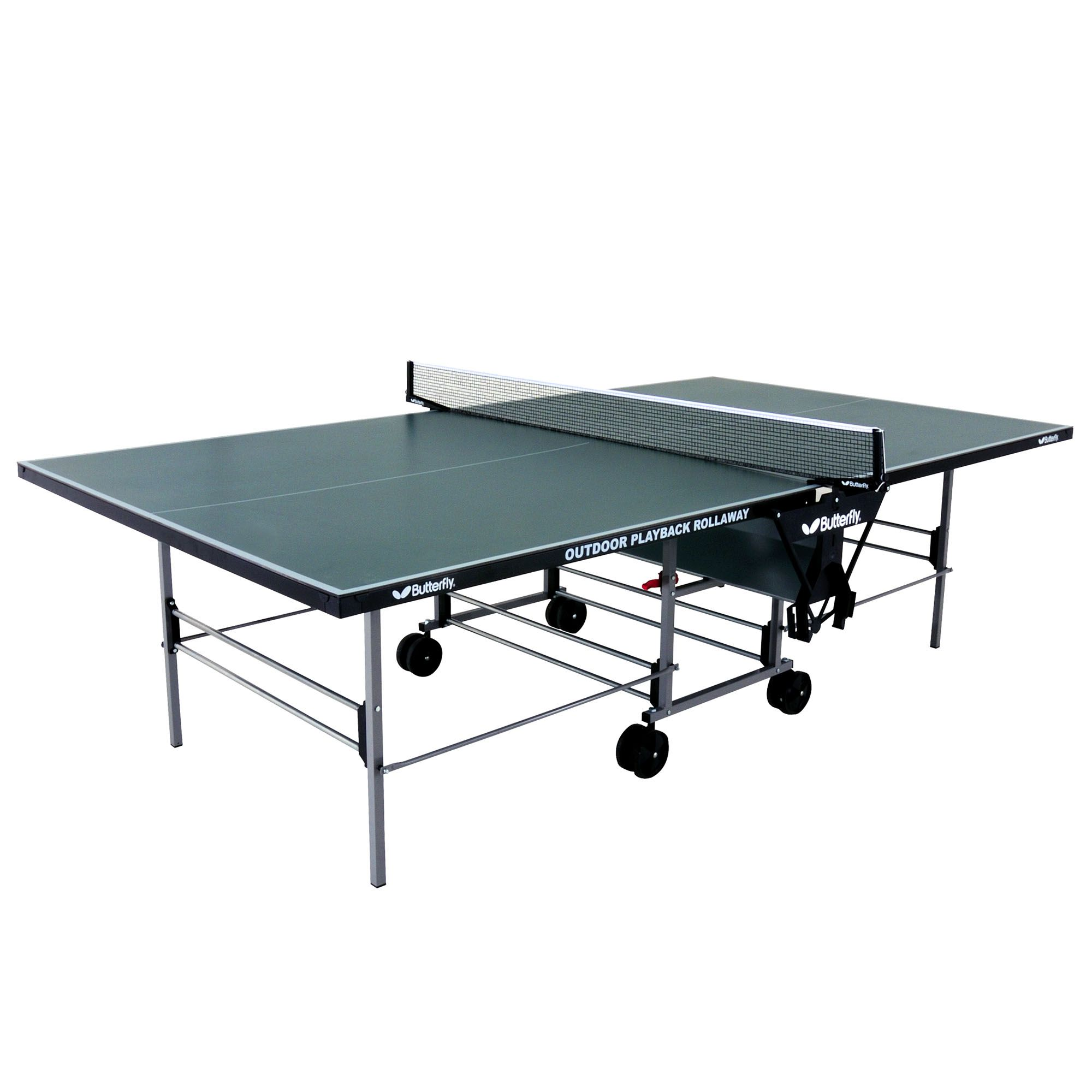 Butterfly playback rollaway outdoor table tennis table - Weatherproof table tennis table ...