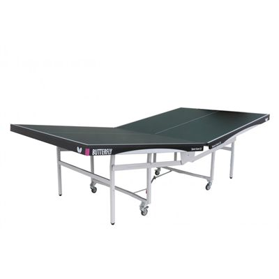Butterfly Space Saver Rollaway 25 Indoor Table Tennis Table - Folding in progress