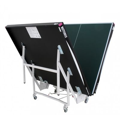 Butterfly Space Saver Rollaway 25 Indoor Table Tennis Table - Folding in progress view