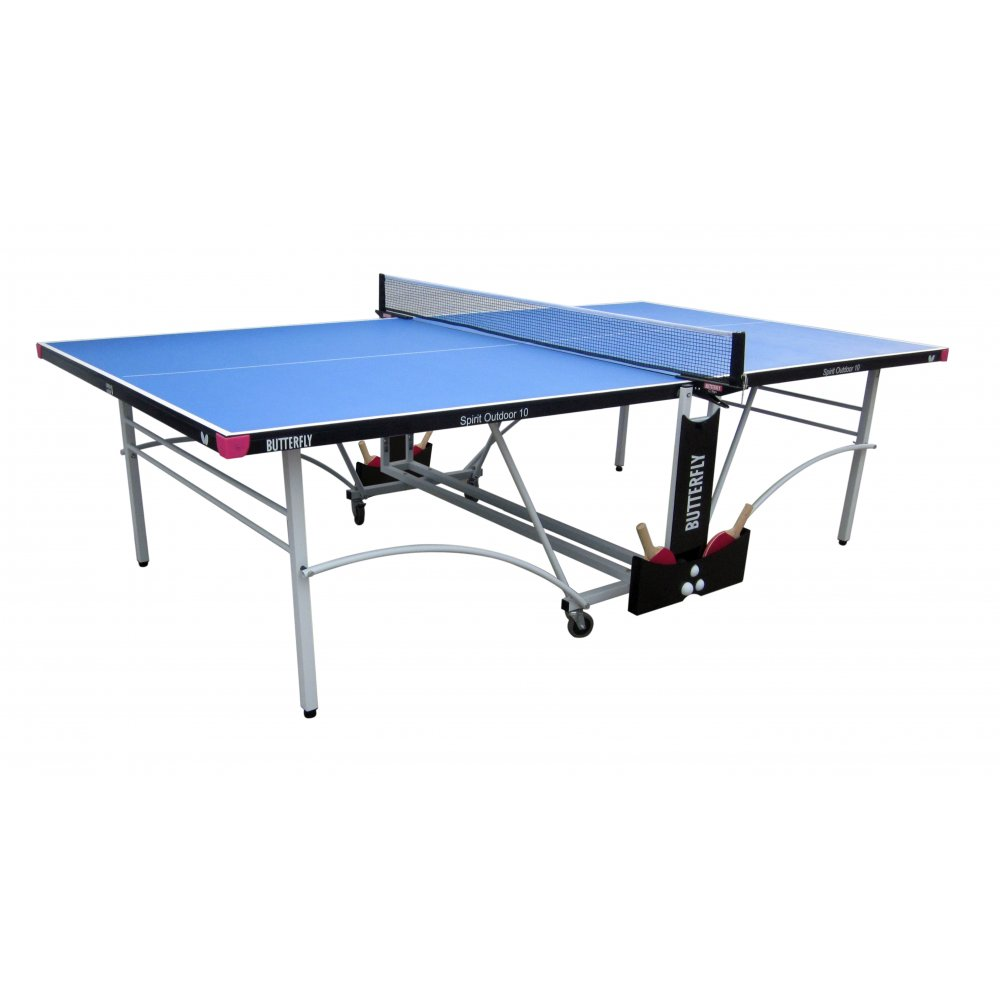 Butterfly Spirit 10 Rollaway Outdoor Table Tennis Table  Blue