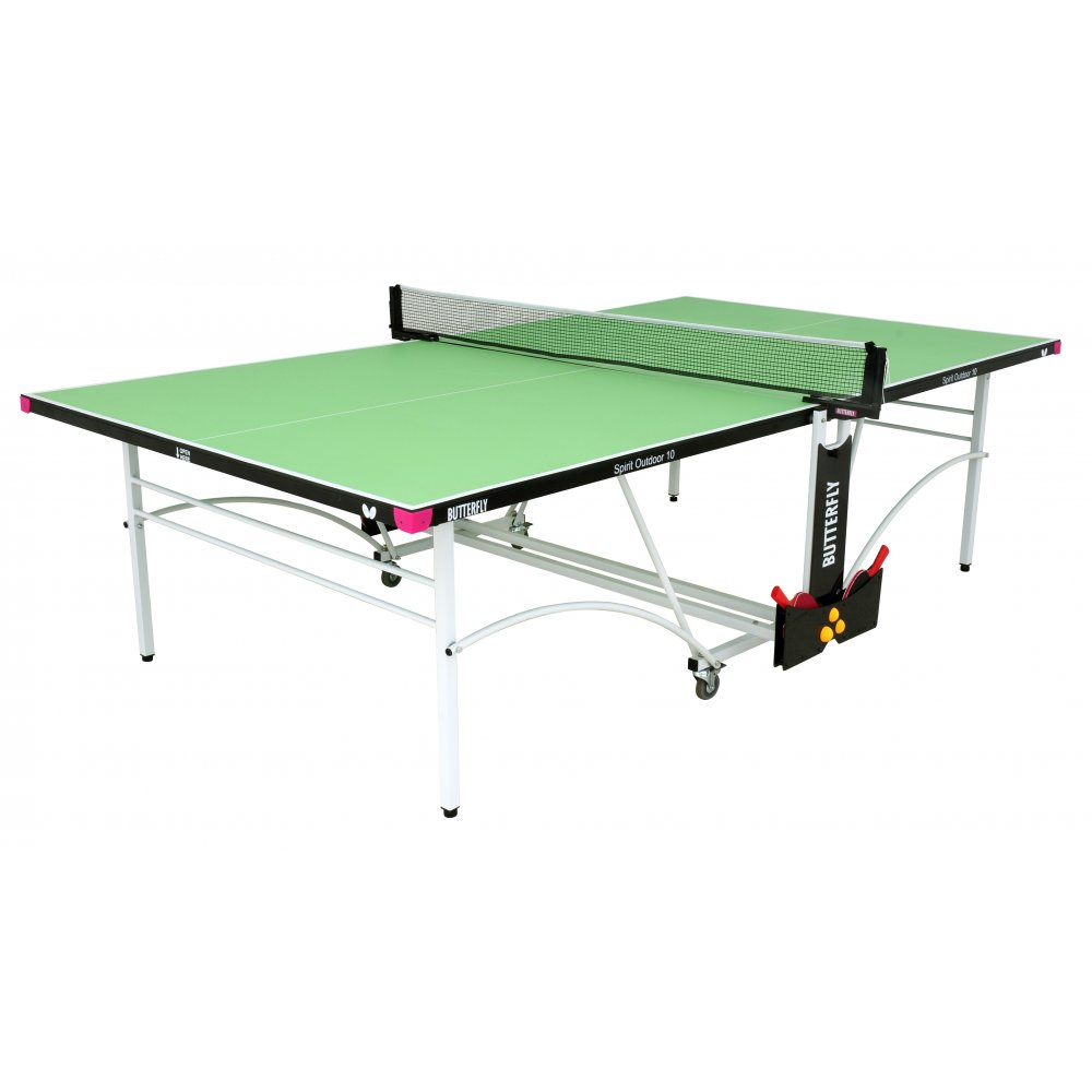 Butterfly Spirit 10 Rollaway Outdoor Table Tennis Table  Green