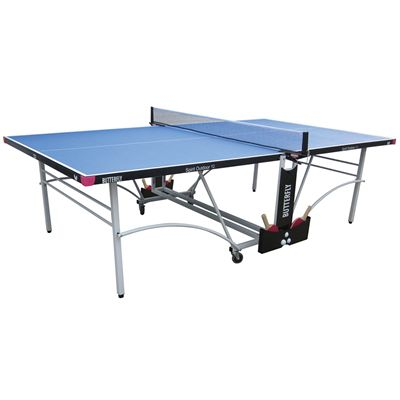 Butterfly Spirit 12 Rollaway Outdoor Table Tennis Table-Blue-Main Image