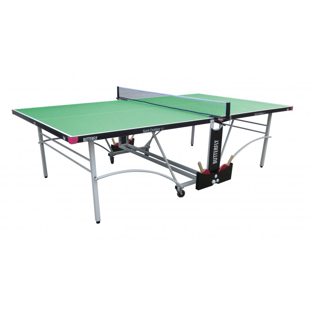 Butterfly Spirit 12 Rollaway Outdoor Table Tennis Table - Green