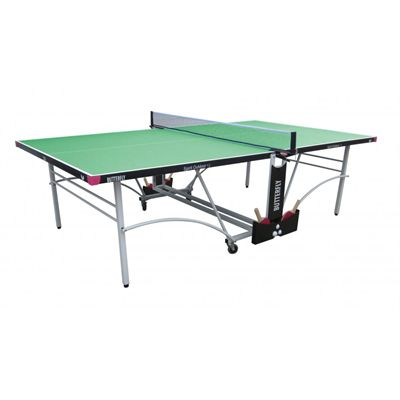 Butterfly Spirit 12 Rollaway Outdoor Table Tennis Table-Green