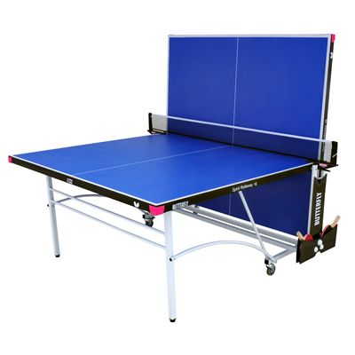 Butterfly Spirit 16 Rollaway Indoor Table Tennis Table-Blue-Playback