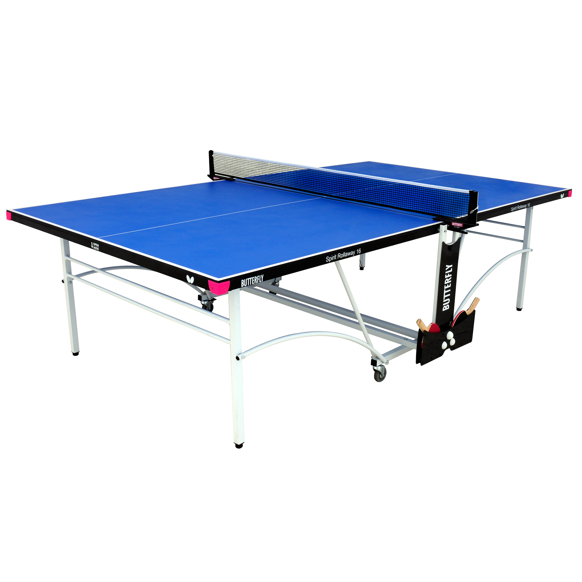 Butterfly Spirit 16 Rollaway Indoor Table Tennis Table  Blue