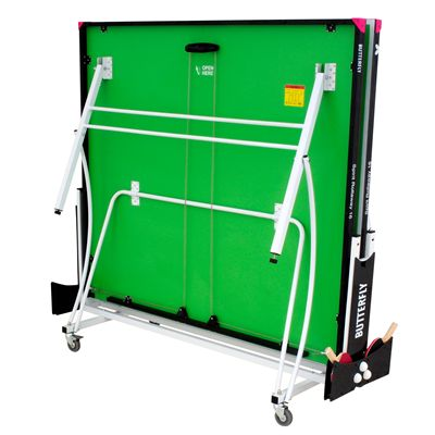 Butterfly Spirit 16 Rollaway Indoor Table Tennis Table-Green-Folded
