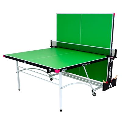 Butterfly Spirit 16 Rollaway Indoor Table Tennis Table-Green-Playback