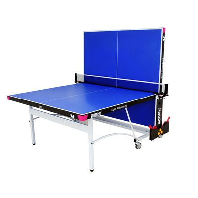 Butterfly Spirit 19 Rollaway Indoor Table Tennis Table-Blue-Playback