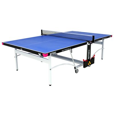 Butterfly Spirit 19 Rollaway Indoor Table Tennis Table-Blue