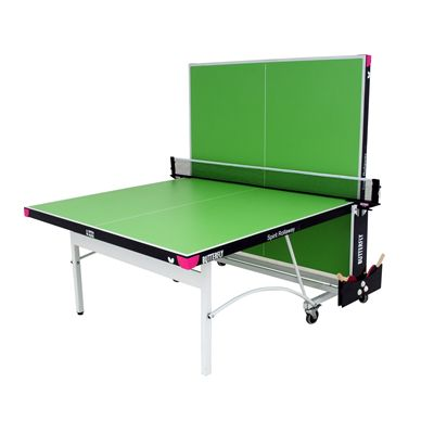 Butterfly Spirit 19 Rollaway Indoor Table Tennis Table-Green-Playback