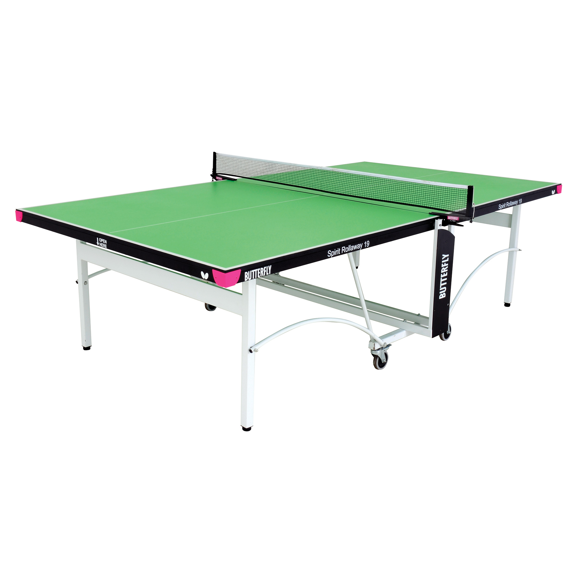 Butterfly Spirit 19 Rollaway Indoor Table Tennis Table  Green