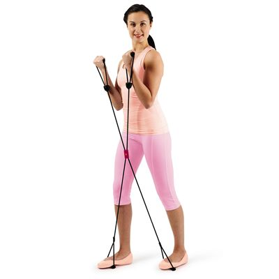 Calmia 4 Way Pilates Stretch Band - In Use