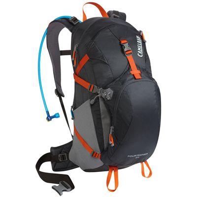 Camelbak Fourteener 24 Hydration Running Backpack-Black-Orange-24L-Front View