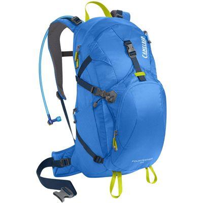 Camelbak Fourteener 24 Hydration Running Backpack-Blue-Lime-24L-Front View
