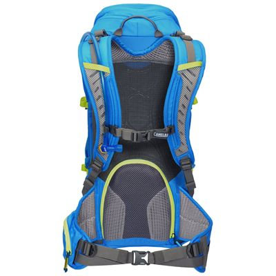 Camelbak Pursuit 24 LR Hydration Running Backpack-Blue/Lime-24L-Back View