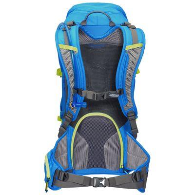 Camelbak Pursuit 24 LR Hydration Running Backpack-Blue/Lime-24L-Back View