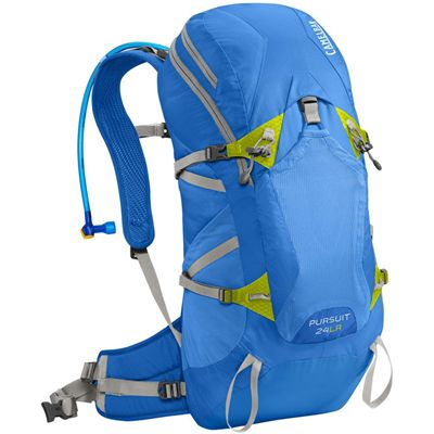 Camelbak Pursuit 24 LR Hydration Running Backpack-Blue/Lime-24L