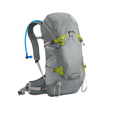 Camelbak Pursuit 24 LR Hydration Running Backpack-Grey/Lime-24L