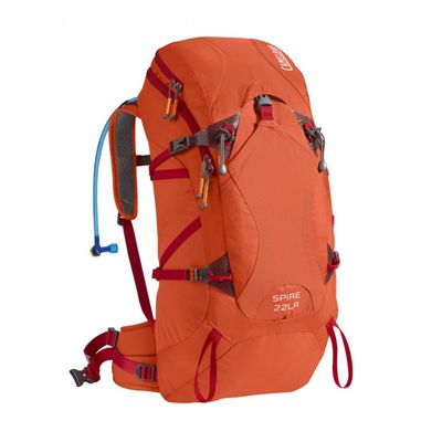 Camelbak Spire 22 LR Hydration Running Backpack-Orange-Red-22L-Front View