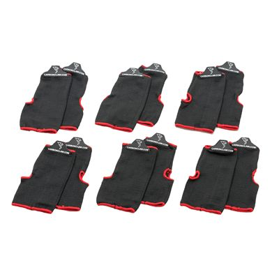 Carbon Claw Aero AX-5 Inner Wash Mitts-Pack of 6-Black and Red