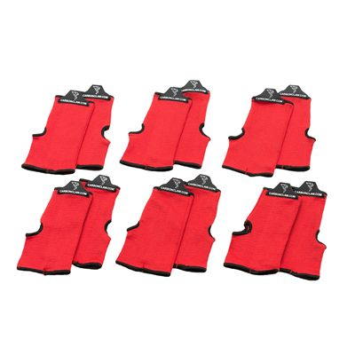 Carbon Claw Aero AX-5 Inner Wash Mitts-Pack of 6-Red and Black
