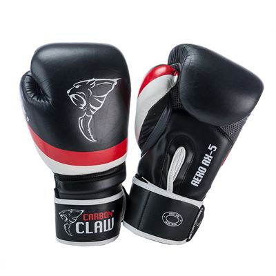 Carbon Claw Aero AX-5 Synthetic Leather Sparring Gloves-Black and Red