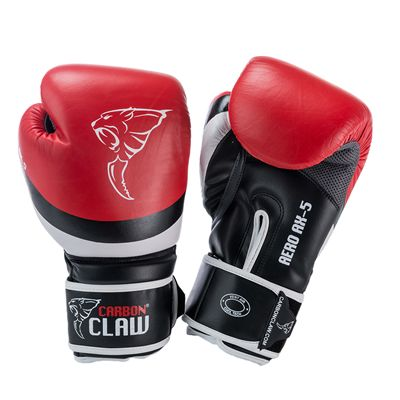 Carbon Claw Aero AX-5 Synthetic Leather Sparring Gloves-Red and Black