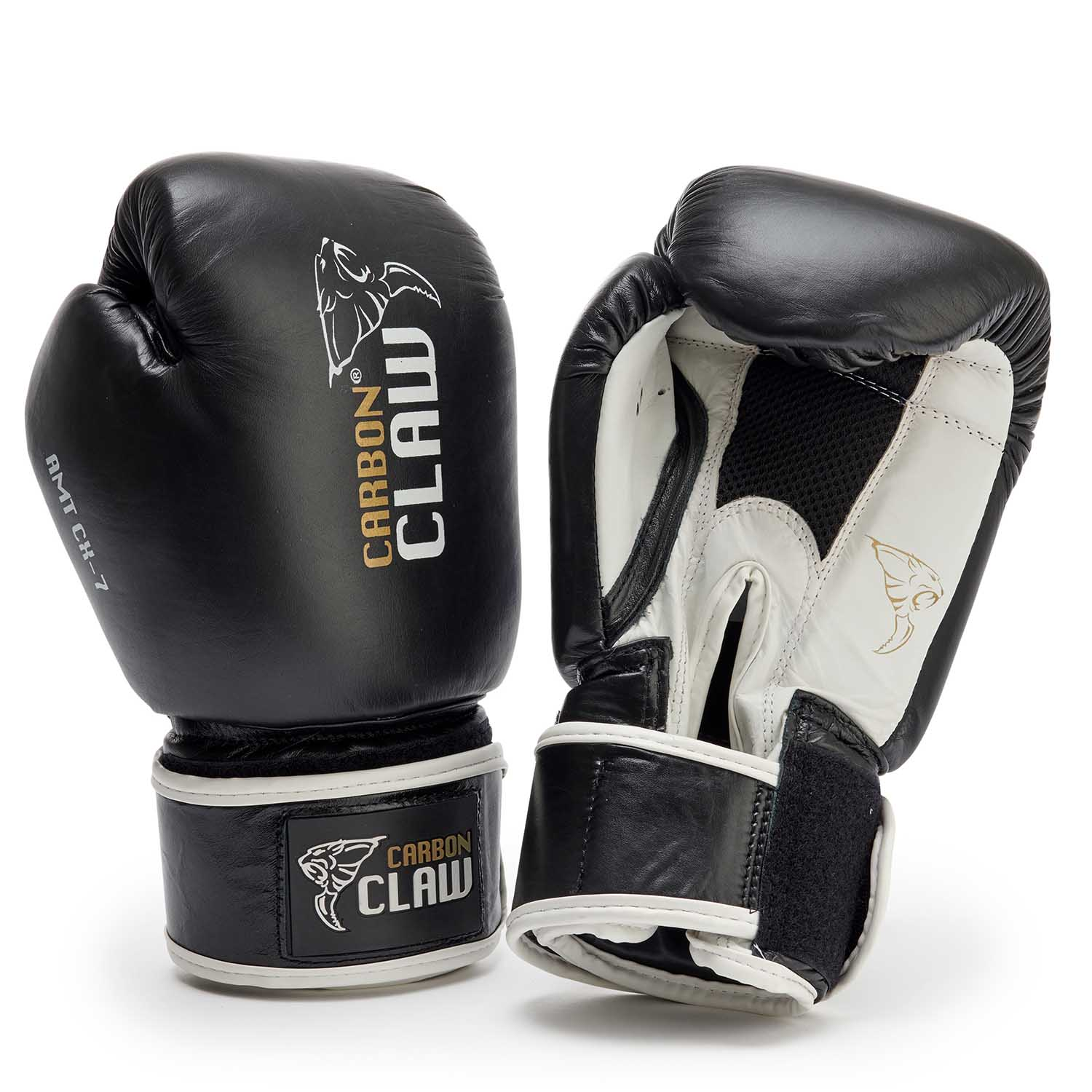 Carbon Claw AMT CX-7 Black Leather Sparring Gloves - 16oz
