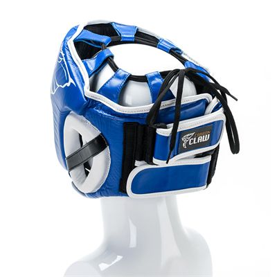 Carbon Claw AMT CX-7 Blue Leather Headguard - Back