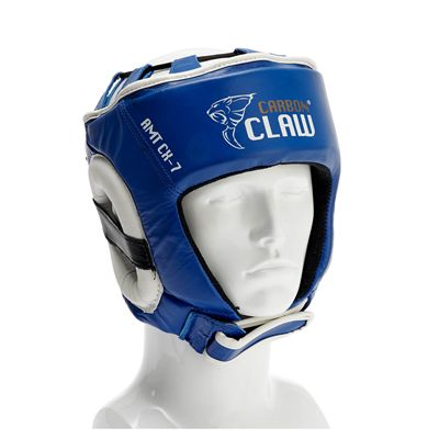 Carbon Claw AMT CX-7 Blue Leather Headguard - M