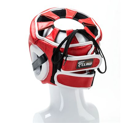 Carbon Claw AMT CX-7 Red Leather Headguard - Back
