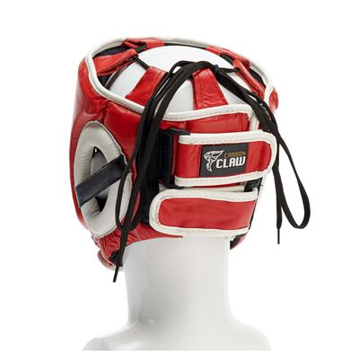 Carbon Claw AMT CX-7 Red Leather Headguard - M - Back