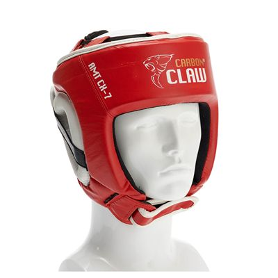 Carbon Claw AMT CX-7 Red Leather Headguard - M