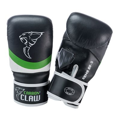 Carbon Claw Arma AX-5 Synthetic Leather Bag Mitts-Black and Green