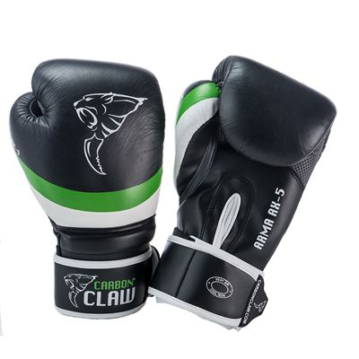 Carbon Claw Arma AX-5 Synthetic Leather Sparring Gloves-Black and Green