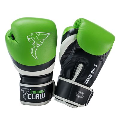 Carbon Claw Arma AX-5 Synthetic Leather Sparring Gloves-Green and Black