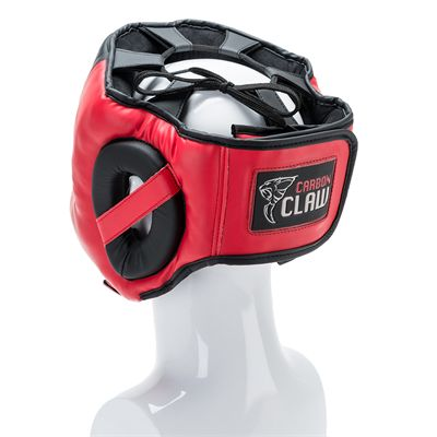 Carbon Claw Impact GX-3 Synthetic Leather Headguard with Cheek - back view
