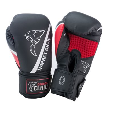 Carbon Claw Impact GX-3 Synthetic Leather Sparring Gloves-black and red