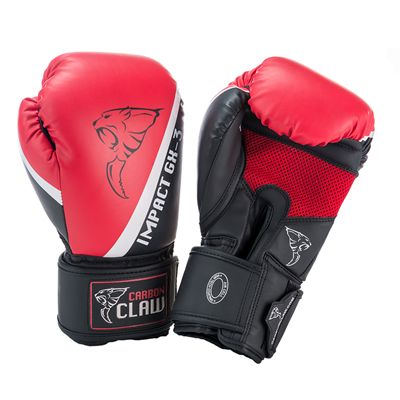 Carbon Claw Impact GX-3 Synthetic Leather Sparring Gloves-Red and Black