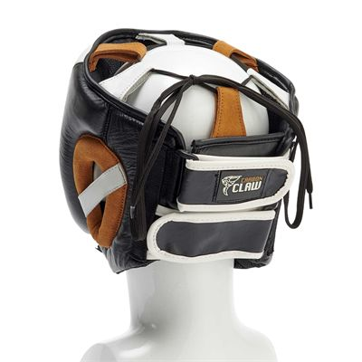 Carbon Claw Recoil RX-7 Adjustable Leather Gel Headguard - Back
