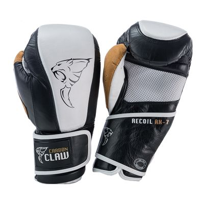 Carbon Claw Recoil RX-7 Leather Bag Gloves-Black and White