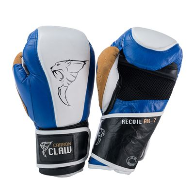 Carbon Claw Recoil RX-7 Leather Bag Gloves-Blue and White