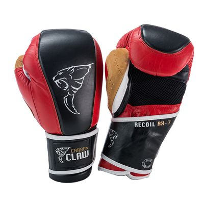 Carbon Claw Recoil RX-7 Leather Bag Gloves-Red and Black
