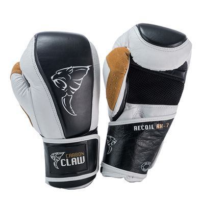 Carbon Claw Recoil RX-7 Leather Bag Gloves-White and Black